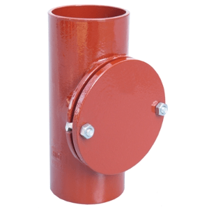 Non-flared cleanouts soil pipes with round openings