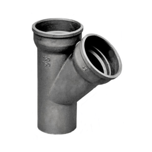 Three-way pipes for sewage systems