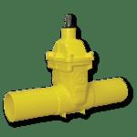 saracinesca cuneo gommato per gas con connettori in acciaio