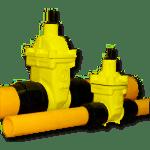 saracinesca cuneo gommato per gas per tubi pe