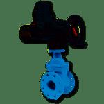 saracinesca cuneo gommato con attuatore elettrico