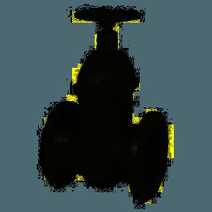 saracinesca corpo ovale in ghisa a tenuta metallica